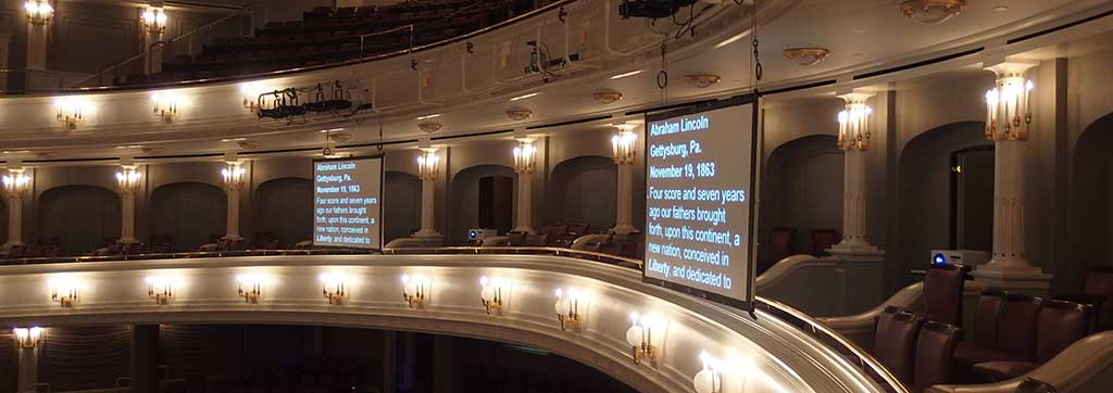 Dallas Prompter Screens in Bass Hall for Live Event