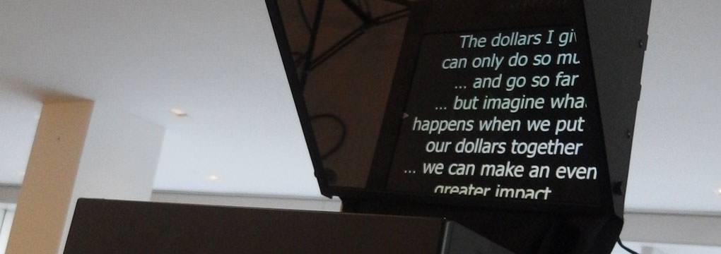 Why use a video prompter - through the lens prompter