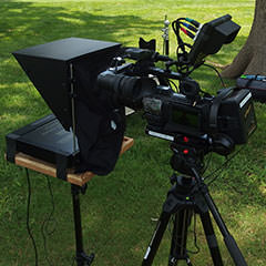 Prompter on a stand