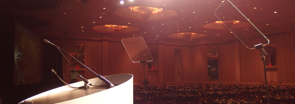 why use a prompter for a live event