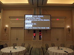 Hanging Screen Prompter